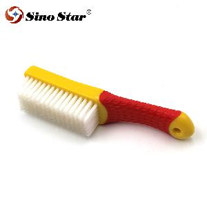 JLM05 Rubber Handle Interior Upholstery Detailing Brush SOFT Dense Hair For Interior Roof,Floor Matt