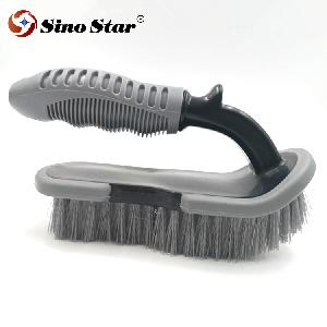 JLM08 U Type Handheld Soft Bristle Washing Brush Vehicle Tire Car Cleaning Durable Tool Motorcycle R